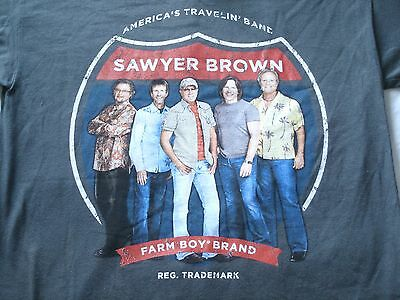 Sawyer Brown America'sTravelin' Band T Shirt Small S Farm Boy Brand