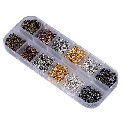 Boxed Jewelry Making Kit 12mm Lobster Clasp Hooks & 5mm Open Jump Rings Link