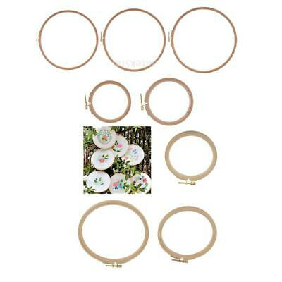 7 Sizes Wood Frame Embroidery Hoop Ring Circle Round Loop Cross Stitch DIY Tools