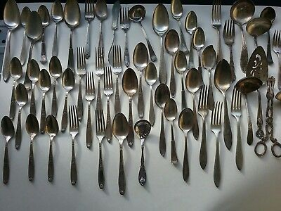 vintage silver plate forks and Spoon mixed lot 50+