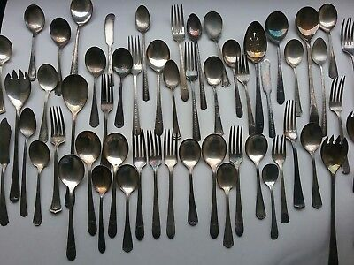 Vintage Mixed Lot (28) Silverplated Spoons and Forks - over 50 +