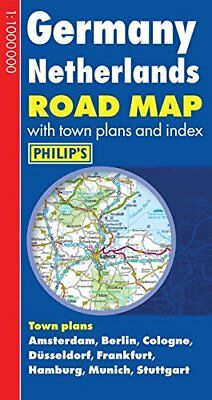Philip's Germany and Netherlands Road Map by Imprint,Philip's Book The Cheap