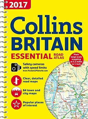 2017 Collins Essential Road Atlas Britain by Collins Maps Book The Cheap Fast