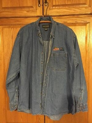 Dekalb/Asgrow Long Sleeve Denim Button Down Shirt Xl