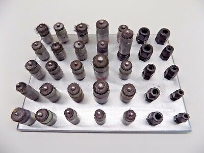 35 Pc 1/4-28 Threaded Collet and Bonding Brush  Set Aircraft Tools