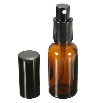 Amber Glass Atomizer Bottle Essential Oil Perfume Water Spray Bottles Containers