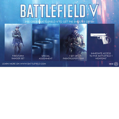 PS4 / XB1 / PC - Battlefield 5 V Enlister Offer / BF1 Weapons DLC