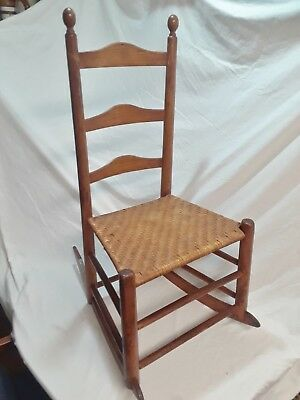 Antique Kids Rocking Chair Caned, Nice Condition, Victorian Style