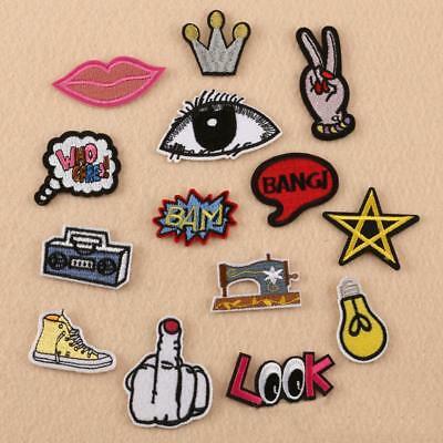DIY Handmade Embroidered Iron Phone Hairpins Decor Accessories Clothes Patch