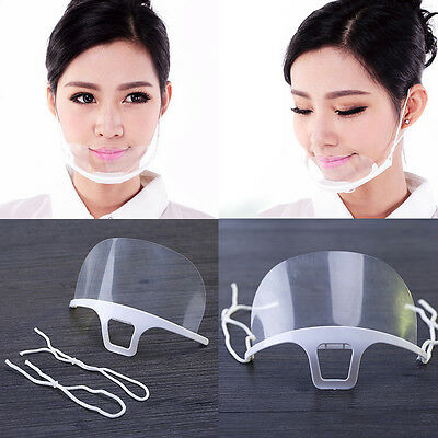 10PCS Transparent Anti-Bacteria Mask For Kitchen Beauty  Catering Salon Dentist
