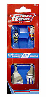 Justice League 2Pce Easy Grip Kids Flatware Spoon & Fork Cutlery Set