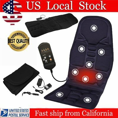 Massage Chair Heated Back Seat Massager Cushion For Car Home Relax Van Stress SK