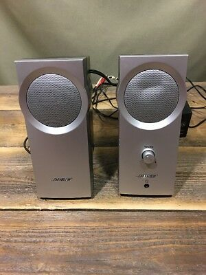Bose Companion 2 Series I Computer Speakers Silver Tested Works Great