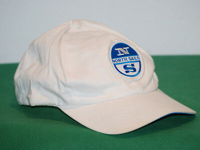vintage North Sails cap hat 5 panel compu Game anni 80 90 adjustable white