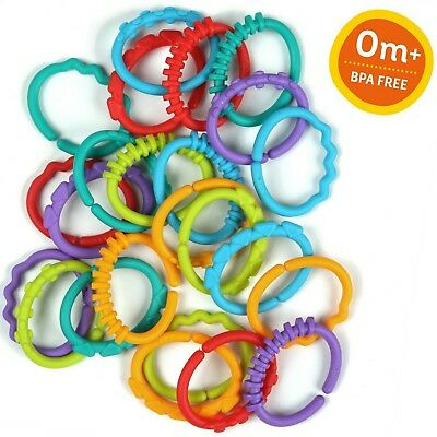 Kids Sensory Activity Toy Lots of Links Strong, Durable Plastic Is Easy To Clean