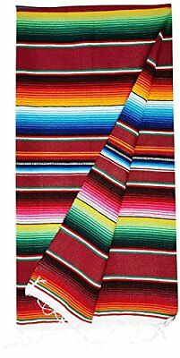 Large Authentic Mexican Blankets Colorful Serape Blankets Assorted