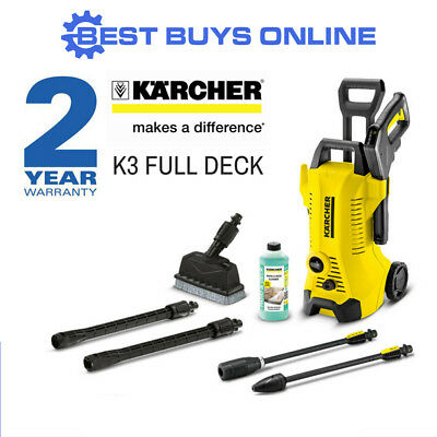Karcher K3 Deck 1800Psi High Pressure Washer Cleaner 8M Hose 1.601.829.0