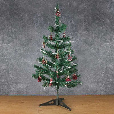 2ft' Mini Artificial Christmas Tree Kit with Decorations Office Desk Xmas Tree