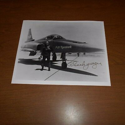 Chuck Yeager is a former United States Air Force general Hand Signed Photo