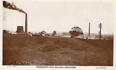 Postcard Brodsworth Main Colliery Woodlands Doncaster Yorkshire Mining RPPC P