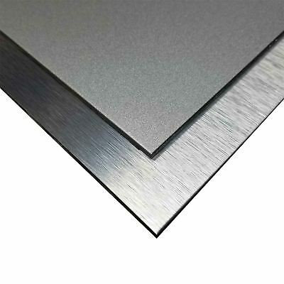 "Aluminum Composite Sheet Panel 1/8"" x 24"" x 48"" Silver Brushed - Silver Glitter"