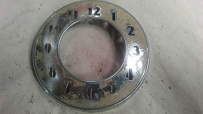 Vintage Chrome Interior Ford Clock Bezel