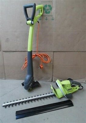 Ryobi RHT5050 Electric Hedge Trimmer 500W & RLT3123 Corded Grass Strimmer 300W