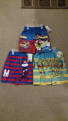 New 4T 2 Micky Mouse/TMNT Swim trunks NWT