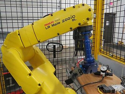 Fanuc Robot LR Mate 200iC/5L W/PZN50 Gripper and Pedestal - Less Than 500 Hours!