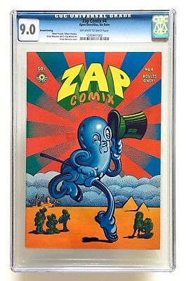Zap Comix #4 2nd Printing 1968 / CGC 9.0 - 3rd Highest Grade in CGC Census