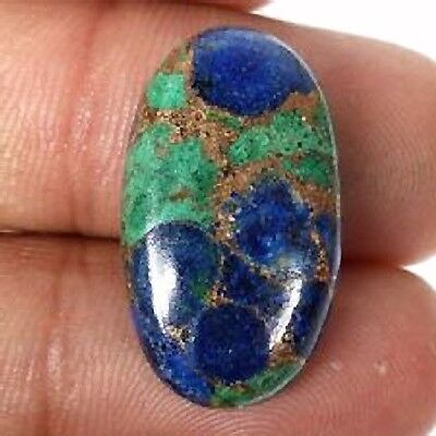 NATURAL SUPERB AZURITE COPPER MOHAVE LOOSE GEMSTONES (14 x 10 mm) OVAL CABOCHON