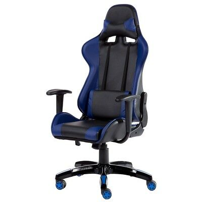 Black Racing High Back Office Chair Gaming Reclining Executive Computer Desk US