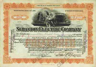 Scranton Electric Company 1925 Scranton Pennsylvania Heat and Power Company 1 Sh