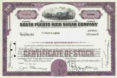 South Puerto Rico Sugar Company 1963 New Jersey Central Guánica D.H. Blair Comp.