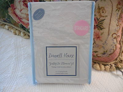 SALE! Barrett House vintage wash eyelet lace Pillowcases French Beach House Chic