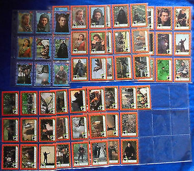 Robin Hood Trading Cards SET mit Sticker KEVIN COSTNER