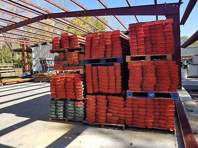 Used Teardrop Pallet Rack Shelving Racking Sections scaffolding one beam 120""