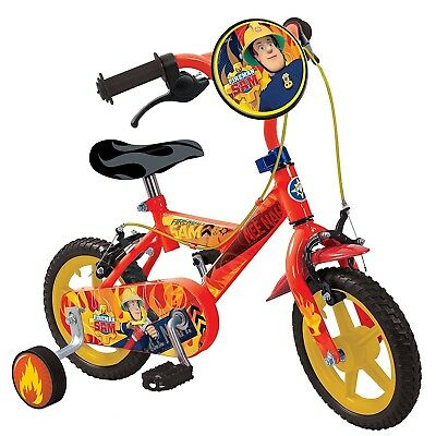 Fireman Sam Kids 12 Inch Bike Pedal Bicycle Ride On Cycle Childrens Outdoor Toy
