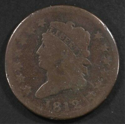 1812 Classic Head Large Cent, G/vg