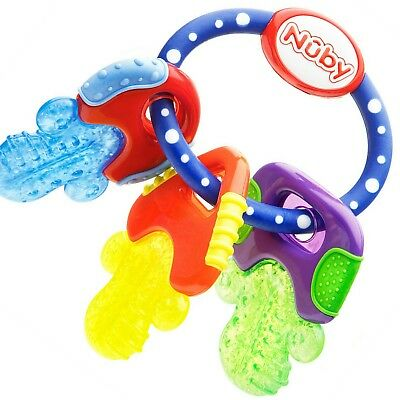 Nuby Baby Toys Ice Bite Teether Keys Soothes Sore Gums Stays Cooler For Longing