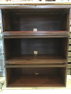 Antique Barrister Bookcase 3 stack Globe Wernicke
