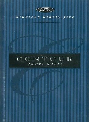 1995 Ford Contour Owners Manual User Guide Reference Operator Book Fuses Fluids