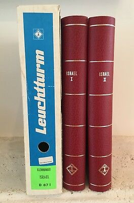 2 New Lighthouse Red Israel Album Binders Stock #d-87 With Original Package