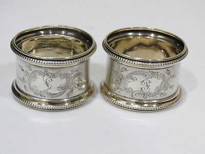 Lot of 2 Vintage 800 Silver Napkin Rings
