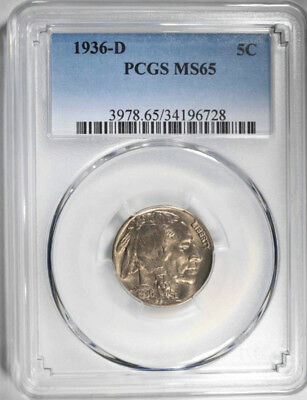 1936-D Buffalo Nickel, Pcgs Ms-65