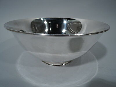 Arthur Stone Bowl - Antique Arts & Crafts Craftsman - American Sterling Silver