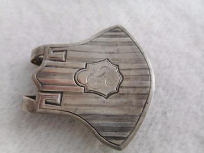 Saart Brothers Edwardian Sterling Silver Napkin Clip W/ Mono