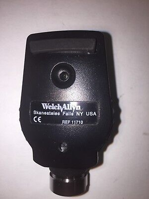 Welch Allyn Ophthalmoscope Head 11710, clean, great light with fresh bulb!!