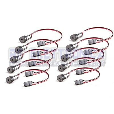 10 PCS 5V Active Buzzer Alarm Beeper With Cable for FPV Racer Quadcopter Drone D