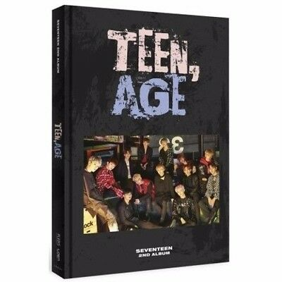 SEVENTEEN 2nd Album TEEN,AGE RS Ver 1album+Book+S.Poster (ON PACK)+Card+Stand el